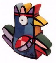 Vreemde Vogel III (blauw)