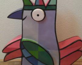 Vreemde Vogel (paars/groot)