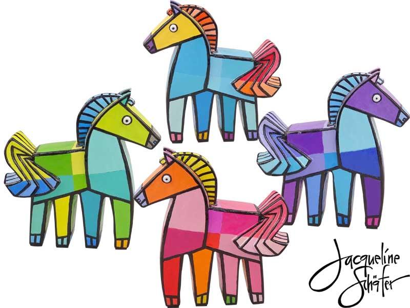 Happy horse Blauw