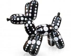 Balloon Dog Black White Dots L