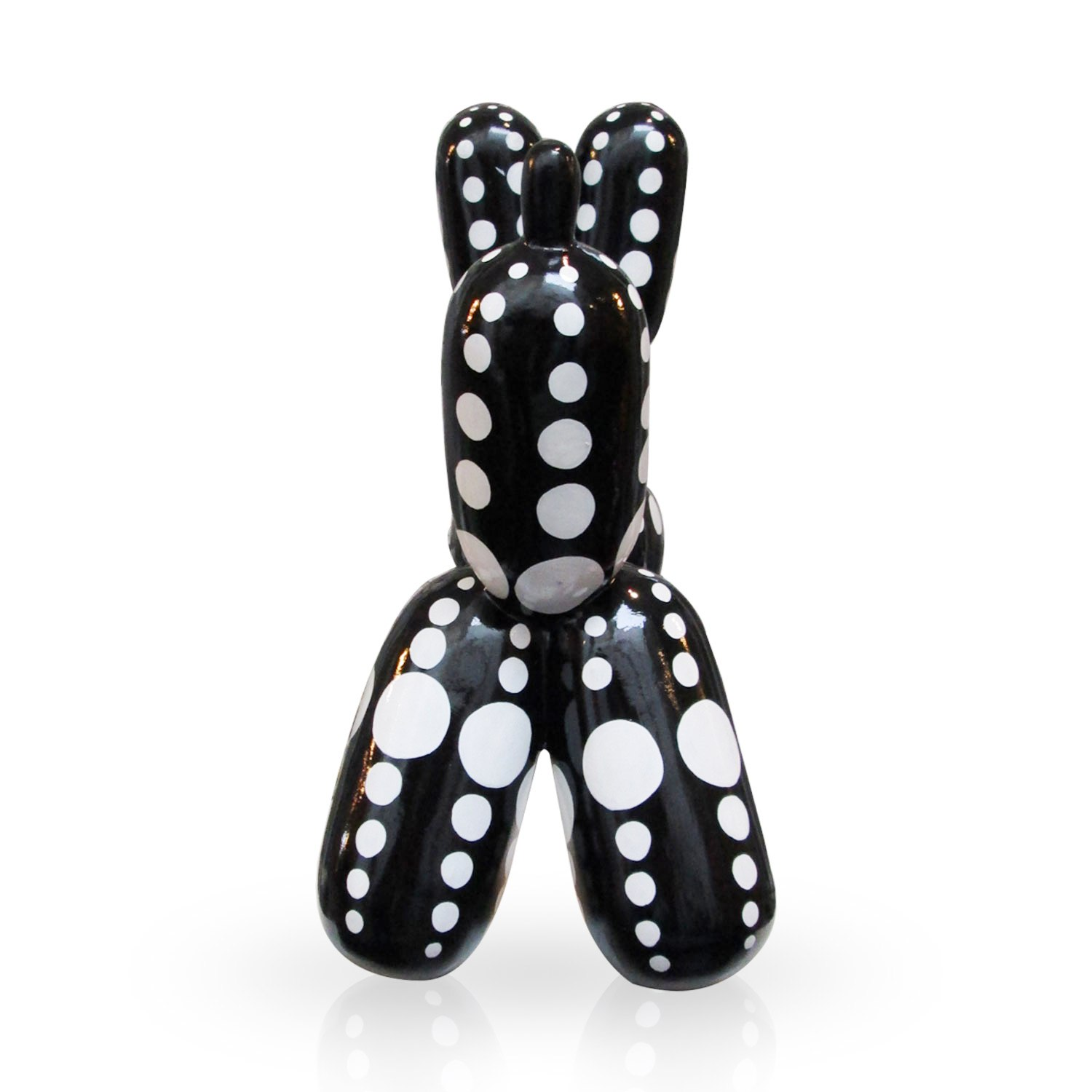 Balloon Dog Black White Dots S