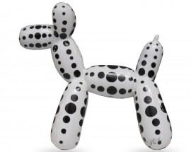 Balloon Dog Black With Dots