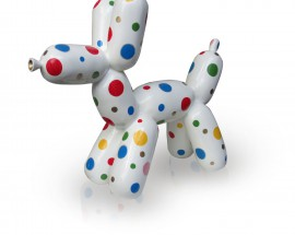 Balloon Dog With Color Dots L