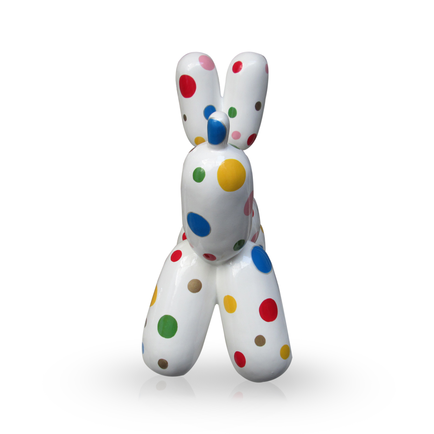 Balloon Dog With Color Dots S