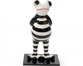 Standing Frog Black & Withe