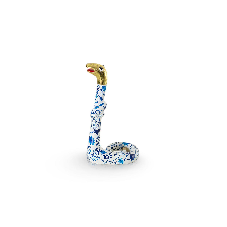 Standing Snake Delftsblauw M