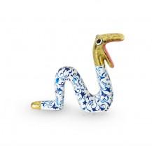 Moving Snake Delftsblauw met goud S
